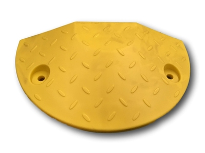 70mm Yellow End Cap - Compliant Speed Hump