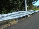Thrie-Beam Guardrail with Standard Blocks