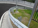 Curved W-Beam Guardrail